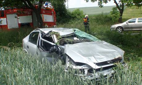 Havárie auta u Prusinovic