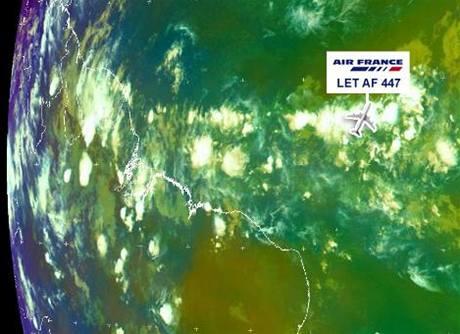 Airbus AF 447 v bouři nad Atlantikem