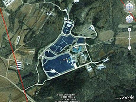 Jeden z paláců komunistický papalášů - Severní Korea na Google Earth