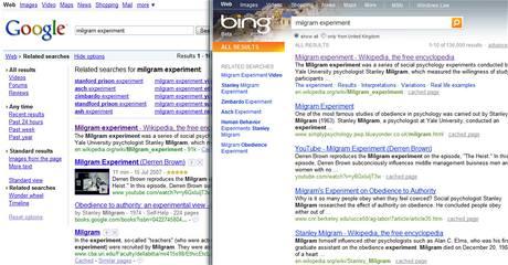 Bing - srovnání