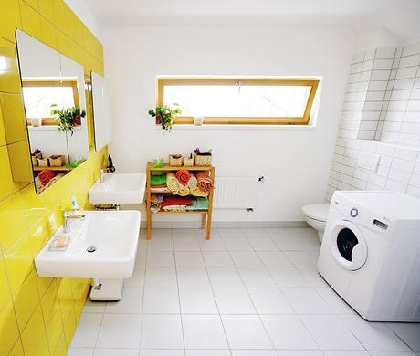 Koupelna je neobvykle velká