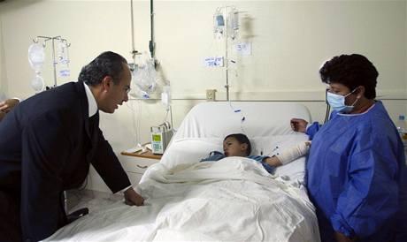 Popálené děti v nemocnici navštívil i mexický prezident Felipe Calderón