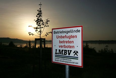 Německo, Berzdorfer See poblíž Görlitz