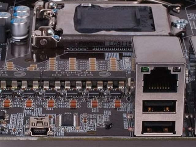 mini USB DFI Lanparty P55