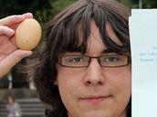 Matěj Forst, který založil na Facebooku skupinu Vejce pro Paroubka v každém městě
