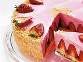 Jahodový dort se sypáním