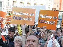 Mítink ČSSD na brněnském náměstí Svobody (1. června 2009)