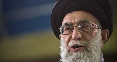 nejvyšší íránský duchovní Alí Chameneí
