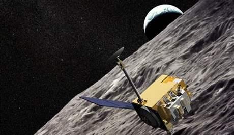 Vizualizace sondy LRO na oběžné dráze Měsíce