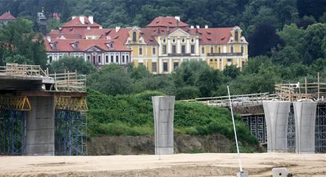 Stavba pražského obchvatu.