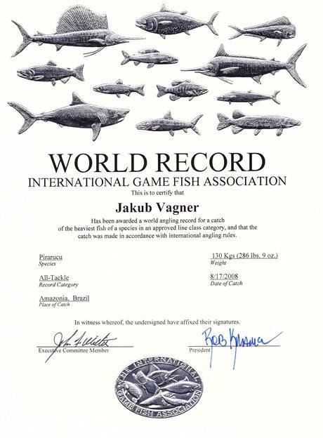 Ocenění mezinárodní organizace IGFA