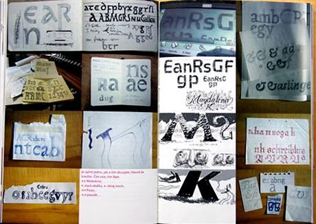 Franti�ek �torm: Eseje o typografii; ukázka stránek
