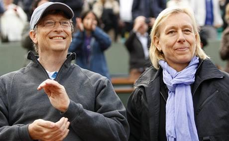 Bill Gates, Martina Navrátilová