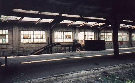 Opuštěné nádraží v Detroitu.