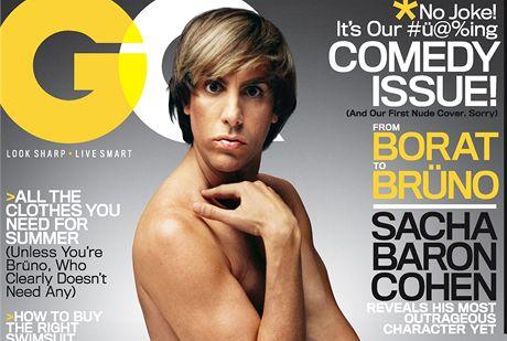 Britský komik Sacha Baron Cohen alias Brüno na titulní stránce magazínu GQ