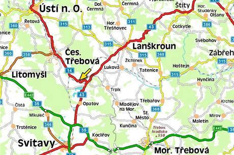 Mapa - Česká Třebová