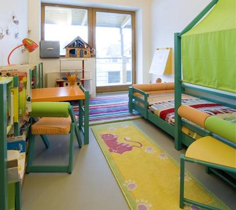 Dětský pokoj je v uklidňující barevnosti