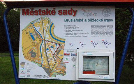 In-line stezka v Opavě - Městské sady