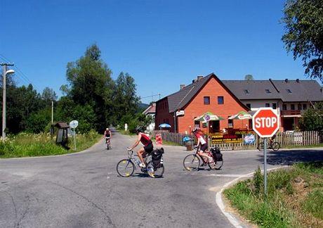 In-line stezka na Šumavě z Nové Pece do Stožce