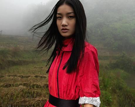 Model z dílny čínského návrháře Davida Tanga