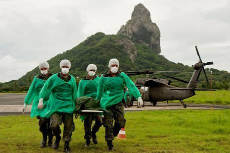 Brazilští záchranáři shromažďují ostatky obětí z airbusu na ostrovech Fernando de Noronha