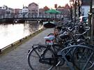 Plavba po holandských grachtech - Leiden