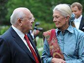 Michail Gorbačov a herečka Vanessa Redgraveová na charitativním večeru Nadace Raisy Gorbačovové