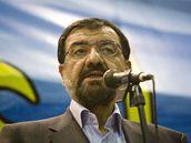 Kandidát konzervativních kruhů Mohsen Rezáí