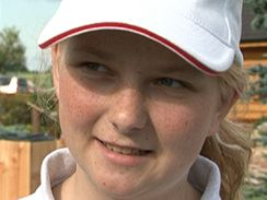 Mistryně světa v adventure golfu Olivia Prokopová.