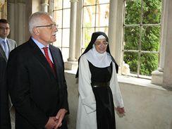 Klášter Porta Coeli byl poslední zastávkou návštěvy Václava Klause na jižní Moravě