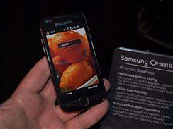 Samsung Omnia II živě na veletrhu CommunicAsia