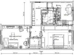 Proměna panelového bytu 2+1 pro dva