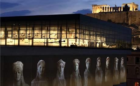 Nové muzeum Akropole v Aténách. (21. června 2009)
