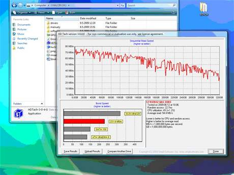 Asus W90 - test HDD
