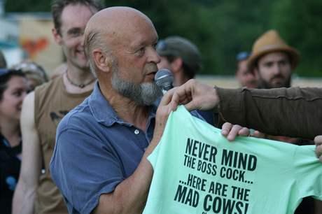 Michael Eavis, šéf a patriarcha festivalu v Glastonbury