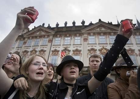 Tryzna za Michaela Jacksona v Praze