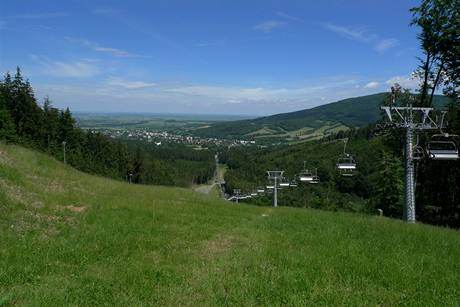 Zlaté hory ze Zámeckého vrchu