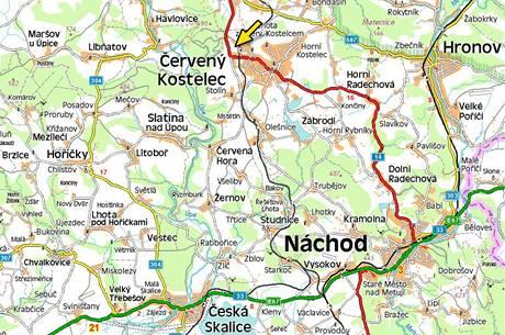 Mapa - Náchodsko