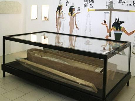 Dvojitá rakev Egypťanky Hereret