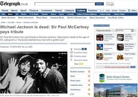 On-line verze britského deníku The Telegraph