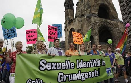 Demonstrace homosexuálů v Berlíně