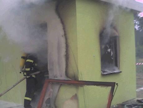 Stavba po zásahu požárníků