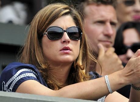 Miroslava Vavrinecová v hledišti během Wimbledonu