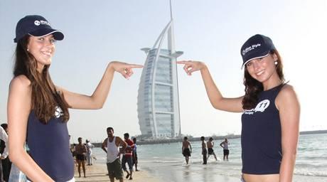Semifinalistky Aneta Vignerová a Barbora Škodová u nejluxusnějšího hotelu Durj Al Arab