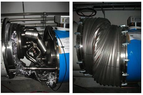 Zničené spoje v sektoru 3-4 urychlovače LHC