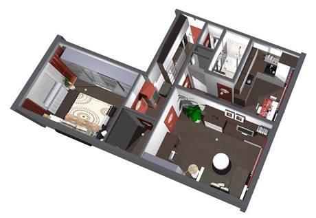 Odvážná proměna panelového bytu 2+1
