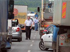 Protest zemědělců na dálnici D5 u Plzně (29. června 2009)