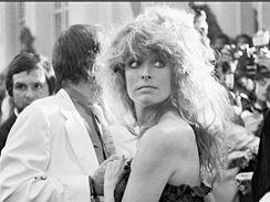 Farrah Fawcettová na festivalu v Cannes v 70.letech
