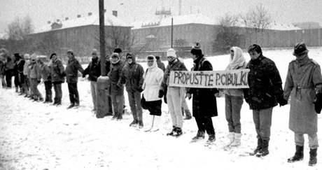 Cibulka: Rětěz za propuštění, 26. 11. 1989