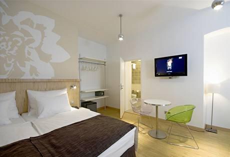 Důraz byl v pokojích kladen na praktičnost a dobré spaní